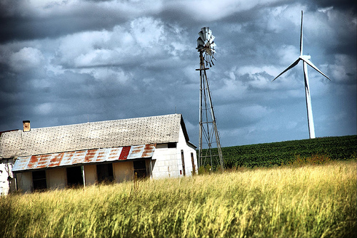 Windmill turbine and barn